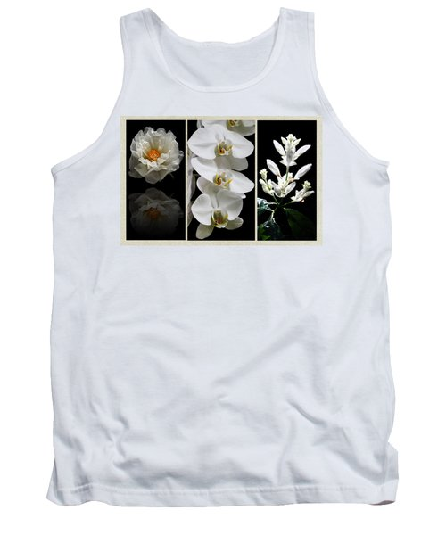 Black And White Triptych Tank Top by Judy Vincent