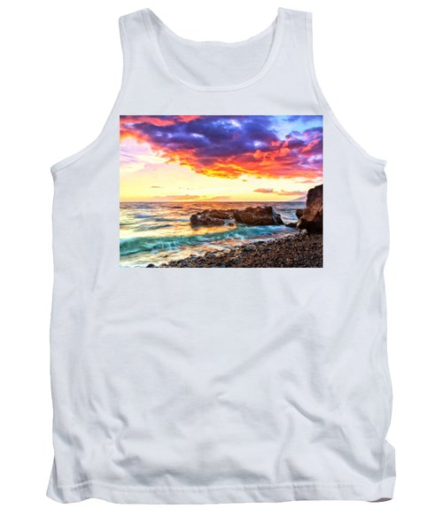 Black Sand Sunset Tank Top