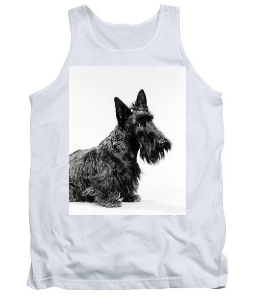 Black Scottie Scottish Terrier Dog Tank Top