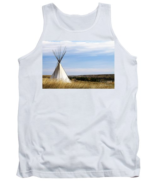 Tank Top featuring the photograph Blackfoot Teepee by Alyce Taylor