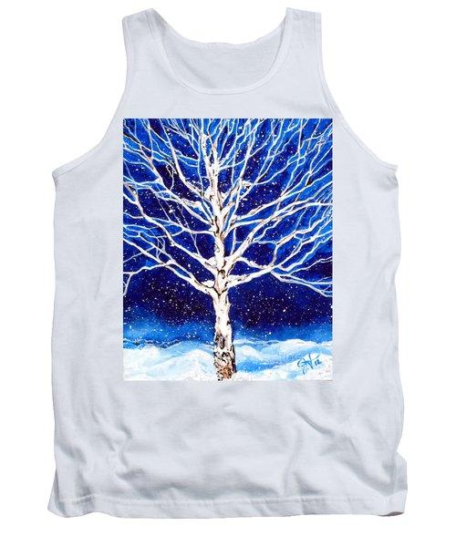 Tank Top featuring the painting Blanket Of Stillness by Jackie Carpenter