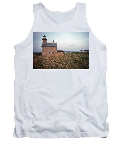 Block Island North West Lighthouse Tank Top by Skip Willits