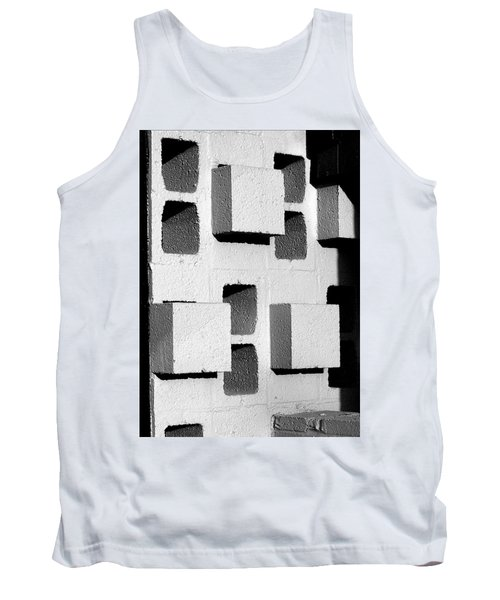 Tank Top featuring the photograph Blocks by Jeff Brunton