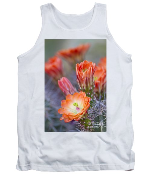 Tank Top featuring the photograph Bloom In Orange by Bryan Keil