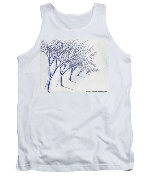 Blowing Trees Tank Top