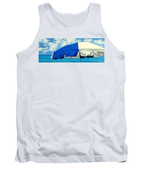 Blue Beach Umbrellas 1 Tank Top
