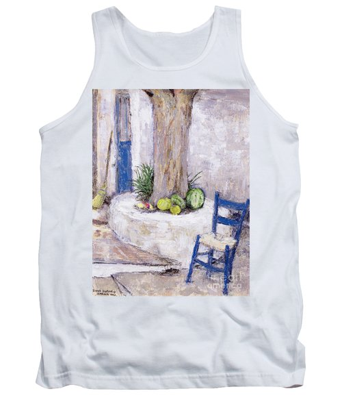 Blue Chair By The Tree Tank Top