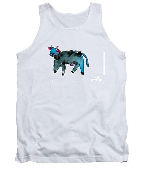 Blue Cow Tank Top