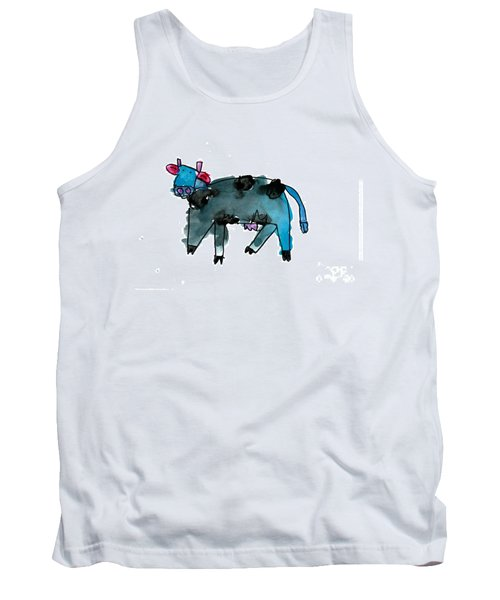 Blue Cow Tank Top