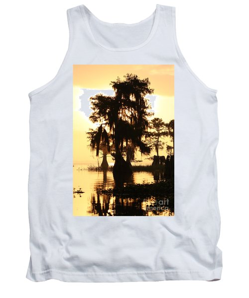 Blue Cypress Yellow Light Tank Top by Paul Rebmann