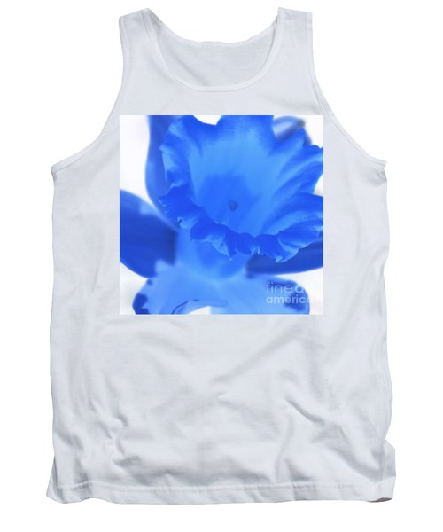 Tank Top featuring the photograph Blue Daffodil by Andy Prendy