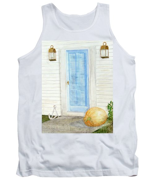 Blue Door With Pumpkin Tank Top