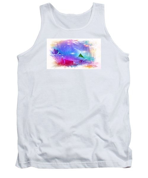 The Blue Petals  Tank Top