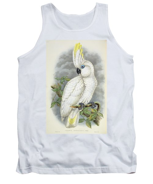 Blue-eyed Cockatoo Tank Top by William Hart