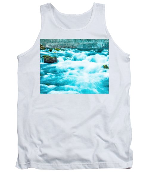 Tank Top featuring the photograph Blue Lagoon by Steven Bateson