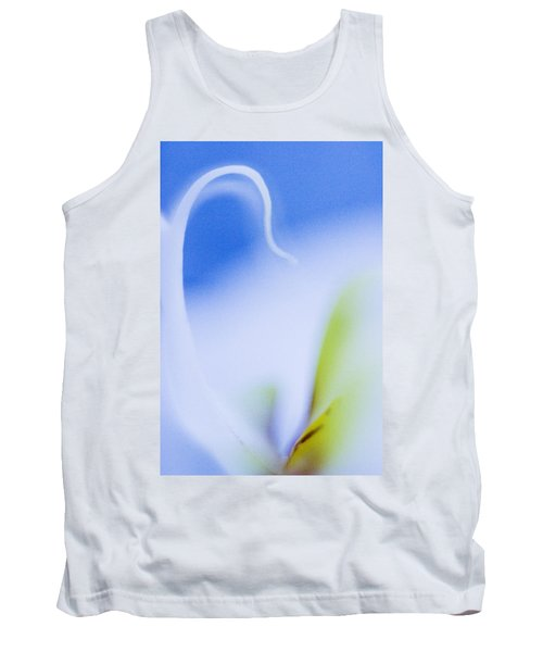 Blue Orchid Abstract Tank Top by Bradley R Youngberg