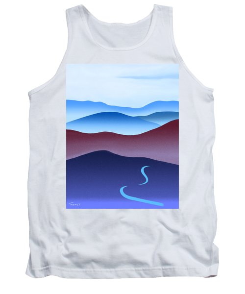 Blue Ridge Blue Road Tank Top