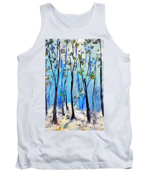 Blue Thoughts In Winter Tank Top