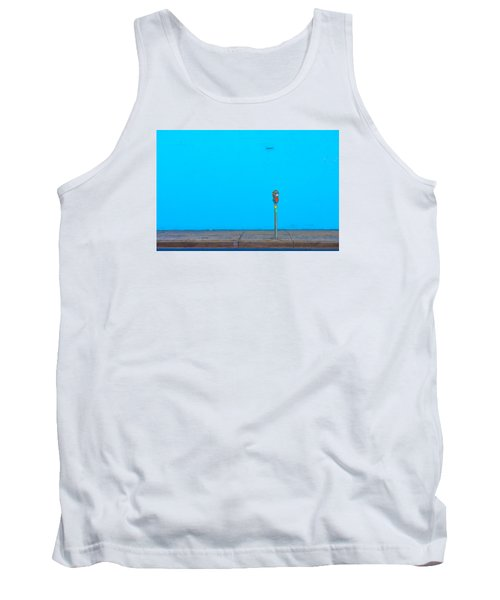 Tank Top featuring the photograph Blue Wall Parking by Darryl Dalton