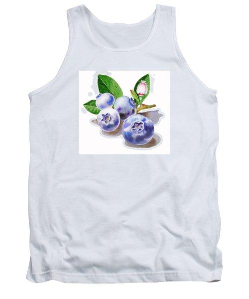 Artz Vitamins The Blueberries Tank Top by Irina Sztukowski
