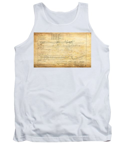Blueprint For Rock And Roll Tank Top
