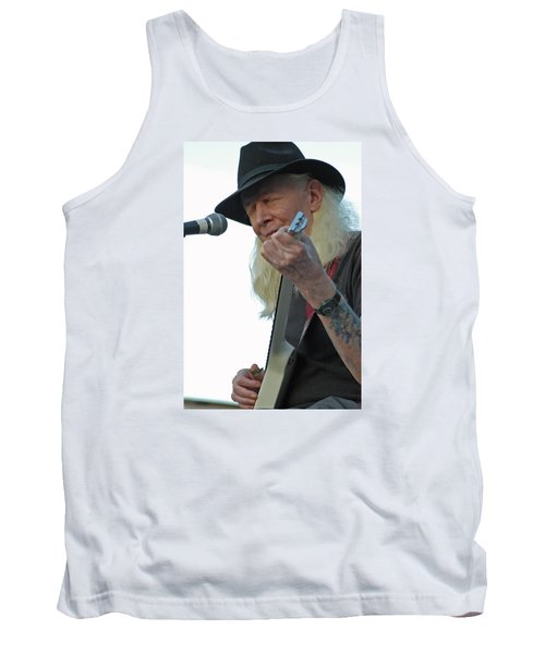 Tank Top featuring the photograph Bluesman Johnny Winter by Mike Martin