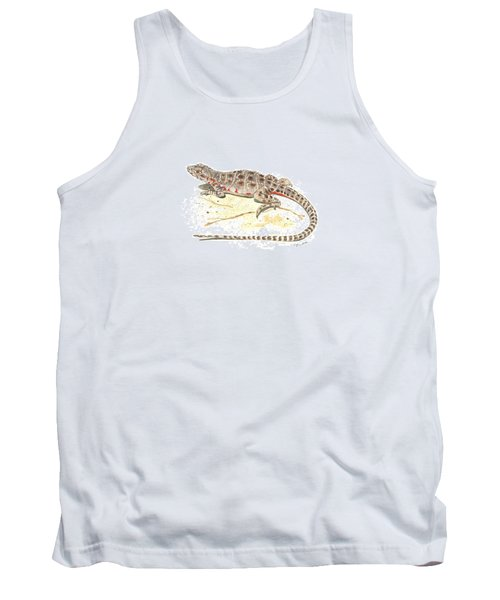 Blunt-nosed Leopard Lizard  Tank Top by Cindy Hitchcock
