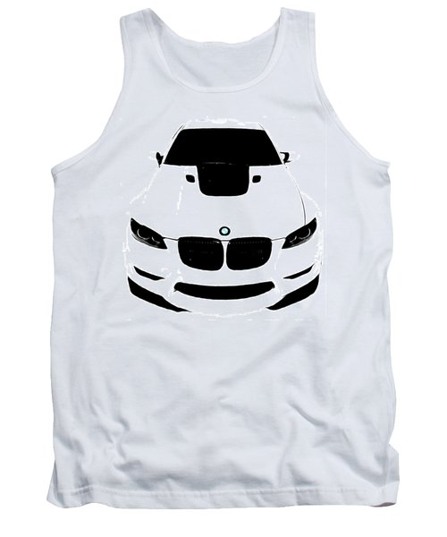Bmw White Tank Top by J Anthony