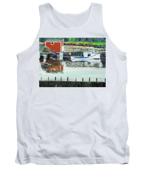 Boat At Louisburg Ns Tank Top by Michael Daniels