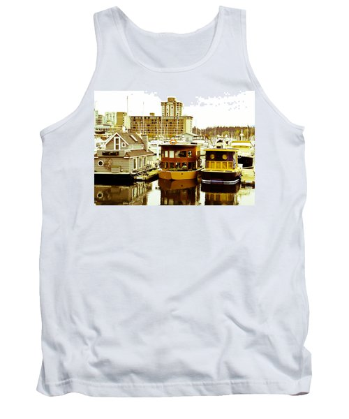 Tank Top featuring the photograph Boathouses by Eti Reid