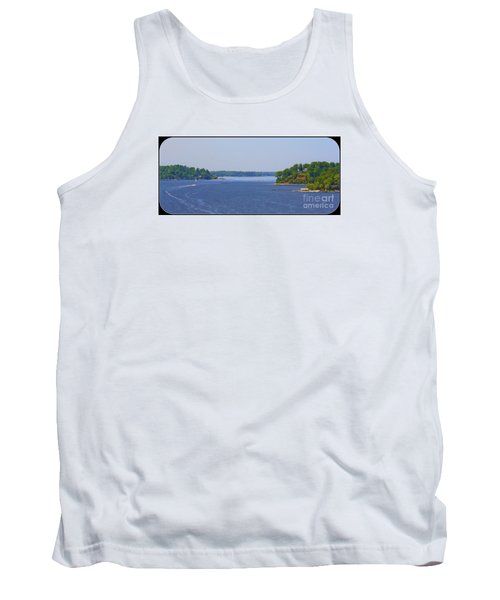 Boating On The Severn River Tank Top by Patti Whitten