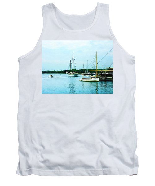 Boats On A Calm Sea Tank Top by Susan Savad