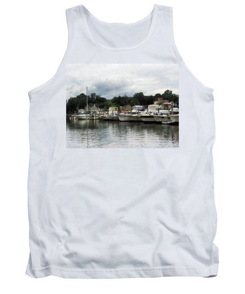 Boats On A Cloudy Day Essex Ct Tank Top by Susan Savad