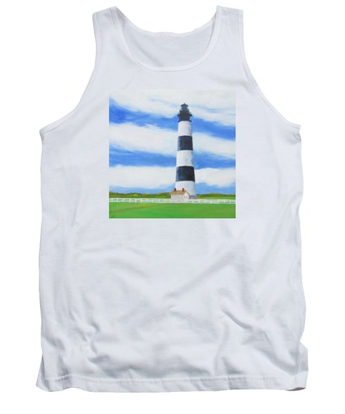 Bodie Island Lighthouse Tank Top by Anne Marie Brown
