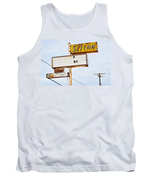Bombay Beach Abandoned Ski Inn Tank Top