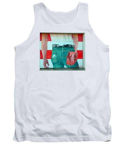 Born In The Usa Urban Garage Door Mural Tank Top by Chris Berry