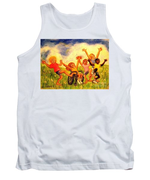 Tank Top featuring the pastel Born To Be Free by Hazel Holland