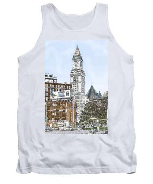Boston Custom House Tower Tank Top by Fred Larson