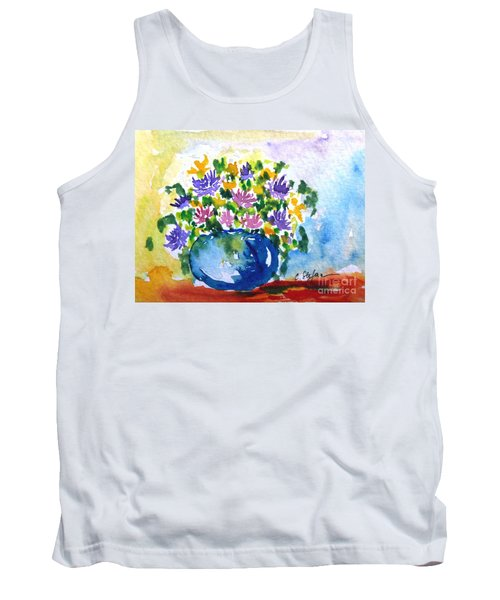 Bouquet Of Flowers In A Vase Tank Top