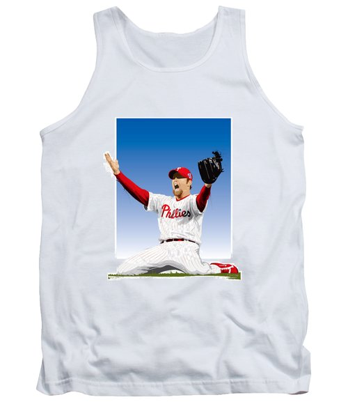Tank Top featuring the digital art Brad Lidge Champion by Scott Weigner