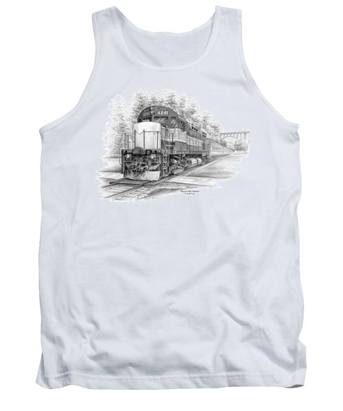 Tank Top featuring the drawing Brecksville Station - Cuyahoga Valley National Park by Kelli Swan