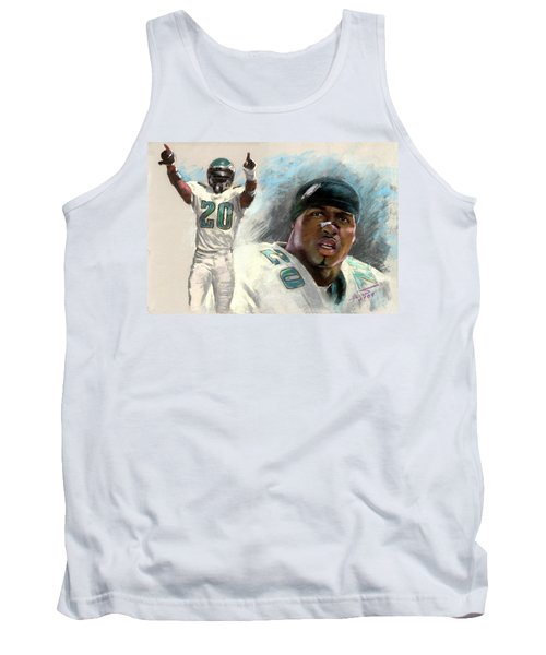 Tank Top featuring the drawing Brian Dawkins by Viola El