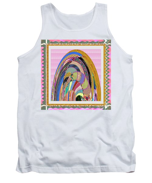 Bride In Layers Of Veils Accidental Discovery From Graphic Abstracts Made From Crystal Healing Stone Tank Top