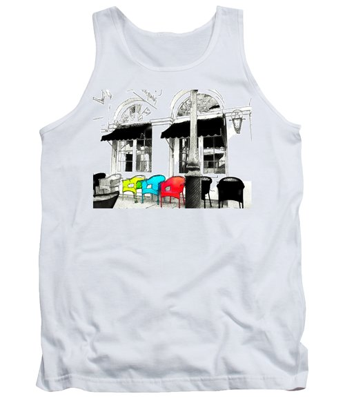 Bright Bistro Tank Top by Kathy Bassett