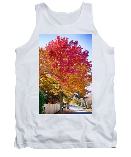 brilliant autumn colors on a Marblehead street Tank Top