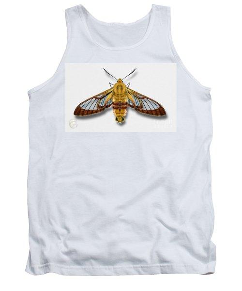 Broad-bordered Bee Hawk Moth Butterfly - Hemaris Fuciformis Naturalistic Painting -nettersheim Eifel Tank Top