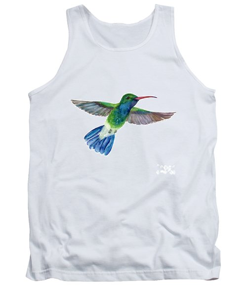 Broadbilled Fan Tail Hummingbird Tank Top