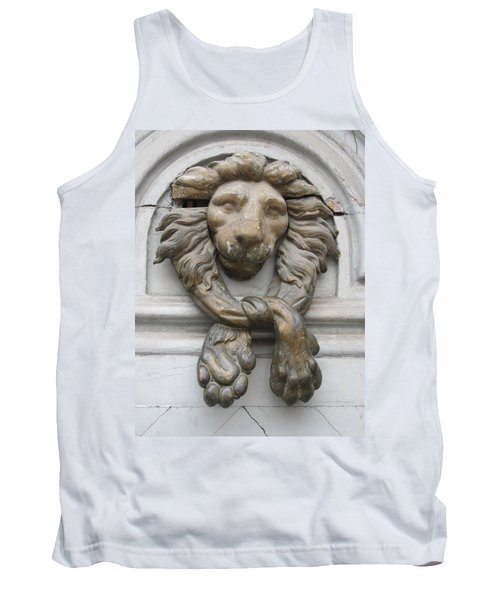 Tank Top featuring the photograph Bronze Lion by Pema Hou
