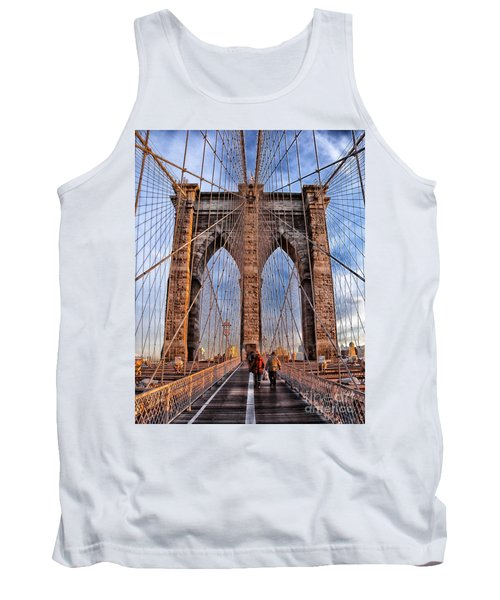 Tank Top featuring the photograph Brooklyn Bridge by Paul Fearn
