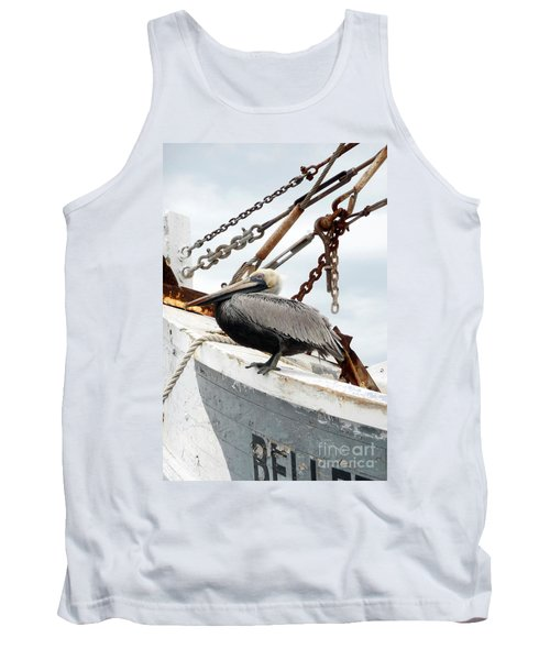 Tank Top featuring the photograph Brown Pelican by Valerie Reeves